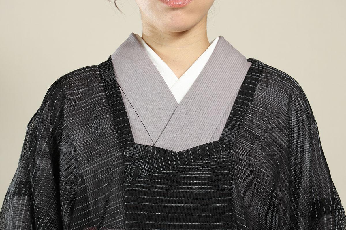 菱衿コート黒